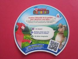 étiquettes De Fromage De La Vache Qui Rit  >>  Thème Du Bistrot Et De L'alimentation (recto-verso) - Fromage