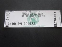 New York USA Ticket Billet Titre De Transport Bateau Liberté  Circle Line Sightseeing America's Favorite Boat Ride - Billets D'embarquement De Bateau