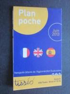 Plan Guide De Poche Juin 2013 Tisséo Transport Urbain De L'agglomération Toulousaine - Titres De Transport