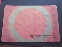 Dessous-de-plateau Papers Compagnie Aérienne D´aviation Type Serviette Publicitaire >>Kenya Airways The Pride Of Africa - Reclameservetten