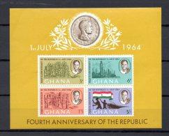 GHANA BLOC N° 13 NEUFS SANS CHARNIERE COTE 2.00€ PRESIDENT NKRUMAH - Ghana (1957-...)