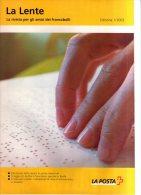 Rivista Ufficiale Poste Svizzere La Lente N.1 Del 2003 Con Listini E Offerte. - Cataloghi Di Case D'aste