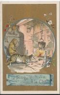 CHROMO - Le Singe Et Le Chat De La Fontaine - Trade Cards