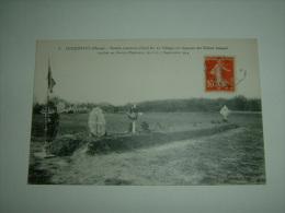 CPA POSTCARD MILITAIRE COURGIVAUX MARNE TOMBE COMMUNE SOLDATS FRANCAIS TOMBES CHAMP D HONNEUR 1914 / 2047 - Cementerios De Los Caídos De Guerra