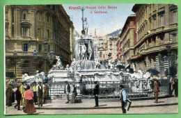 NAPOLI - Plazza Della Borsa E Fontana - Napoli (Naples)