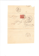ITALIA  1888  - Sassone T15 Su Documento Da  Pieve Di Soligo A Montebelluna - 1878-00 Umberto I