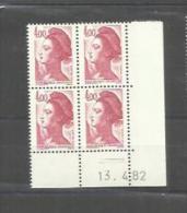 Y Et T   No 2244 Neuf XX     13 4 1982 - Coins Datés