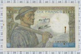 10 Francs Mineur, Ref Fayette 8-14, état TB-TTB - 10 F 1941-1949 ''Mineur''