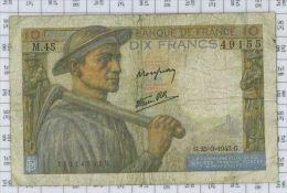 10 Francs Mineur, Ref Fayette 8-8, état TB-TTB - 10 F 1941-1949 ''Mineur''