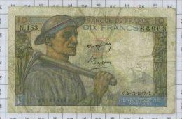 10 Francs Mineur, Ref Fayette 8-19, état TB - 1871-1952 Frühe Francs Des 20. Jh.