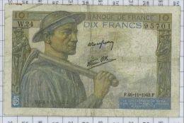 10 Francs Mineur, Ref Fayette 8-6, état TB - 10 F 1941-1949 ''Mineur''