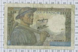 10 Francs Mineur, Ref Fayette 8-14, état TB-TTB - 1871-1952 Anciens Francs Circulés Au XXème