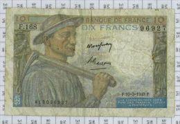 10 Francs Mineur, Ref Fayette 8-20, état TB-TTB - 1871-1952 Frühe Francs Des 20. Jh.