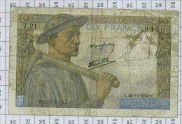10 Francs Mineur, Ref Fayette 8-6, état TB-TTB - 10 F 1941-1949 ''Mineur''