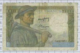 10 Francs Mineur, Ref Fayette 8-19, état TB-TTB - 1871-1952 Anciens Francs Circulés Au XXème