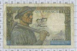 10 Francs Mineur, Ref Fayette 8-19, état TTB - 1871-1952 Anciens Francs Circulés Au XXème
