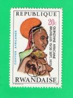 REP. RWANDAISE,, *** 20 C *** COIFFES AFRICAINES ,, NEUF SANS TRACE DE CHARNIERE ,, TTBE - 1970-79: Mint/hinged
