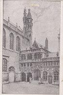 Feldpost  11.5.1918 - Kaiserliche Marine Technischer ?, AK: Brugge, H. Bloedkapel - War 1914-18