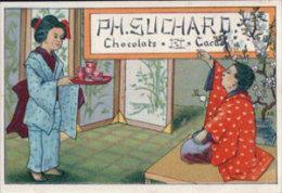 """Publicité Chocolat """"SUCHARD"""" Japonnaise (2601) Litho Format 7 X10 - Publicités"""