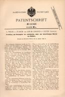 Original Patentschrift - Louis Giroud In Olten , 1899 , Maschine Für Getreide Oder Kohle !!! - Machines