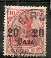LEVANT.BUREAUX ALLEMANDS.1905.MICHEL N°37a.OBLITERE. Y111. - Officina: Turquia