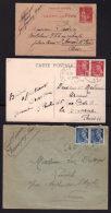 3 Correspondances Dpt 86 - VIENNE /  CHAUVIGNY 1941 - GENCAY 1934 - COUHE 1942 - 1921-1960: Periodo Moderno
