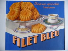 RARE - BRETAGNE - ORIGINAL De Publicité FILET BLEU - 1937 - Gouache Avec Approbatur Imprimatur - Placas De Cartón