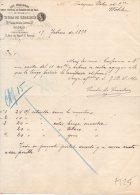 GRAN FABRICA  DE SOMREROS DE PAJA DE ITALIA-VIUDA DE CEDENSE-MADRID-17-2-1893 - Spagna