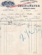STROHWAAREN-MANUFACTOR-FILIALE IN LONDON-SOCIN & MEYER-WOHLEN,SCHWEIZ-2-10-1893 - Schweiz