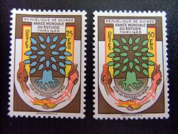 REPUBLIQUE DE GUINEE -  AÑO DEL REFUGIADO 1960 - WORLD REFUGEE YEAR   -- Yvert & Tellier Nº 32 / 33 ** MNH - Refugiados