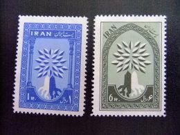 IRAN -  AÑO DEL REFUGIADO 1960 - WORLD REFUGEE YEAR   -- Yvert & Tellier Nº 956 / 957 ** MNH - Refugiados