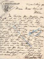 WIEN-2-3-1894-STROHHUT-FABRIK-J. OBERWALDER - Austria