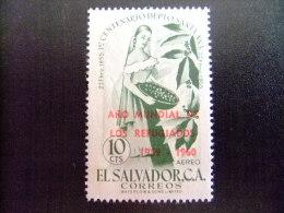 EL SALVADOR -  AÑO DEL REFUGIADO 1960 - WORLD REFUGEE YEAR   -- Yvert & Tellier Nº PA 169 ** MNH - Refugiados