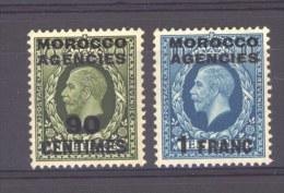 GB  -  Maroc  -  Zone Française  :  Yv  31-32  * - Oficinas En  Marruecos / Tanger : (...-1958