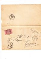 ITALIA  1897 -  Sassone 60 Su  Foglio Da Ancarano A Teramo - 1878-00 Umberto I