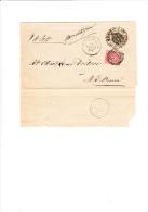 ITALIA  1886-  Sassone 38 Su  Foglio Da Cornuda A Montebelluna - 1878-00 Umberto I