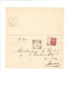 ITALIA  1885-  Sassone 38 Su  Foglio Da  Ronoade A Treviso - 1878-00 Umberto I