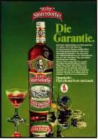Reklame Werbeanzeige  -  Echt Stonsdorfer  -  Rückseite : Sekt  Fürst Von Metternich  ,  Von 1972 - Alkohol