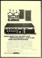 Reklame Werbeanzeige  ,  Studer Revox Stereoanlage  ,  Heute Strebt Man Vermehrt Nach Wertbeständigem  -  Von 1975 - Wissenschaft & Technik
