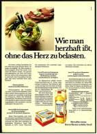 Reklame Werbeanzeige 1974 ,  Becel  -  Diät-Speiseöl  /  Diät-Margarine - Andere Sammlungen