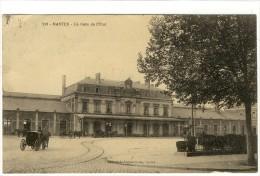 Carte Postale Ancienne Nantes - La Gare De L'Etat - Chemin De Fer - Nantes