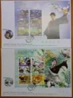 FDC 2004 1st Harry Potter Stamps S/s- Prisoner Of Azkaban Owl Cinema Bird - Celebridades