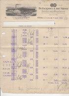 PO0788C# CARTA INTESTATA - FATTURA SCHOPEN & TER MEER - SEIDENSTOFFWEBEREI - Huls Bei Crefeld 1915 - Germany