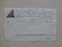 NICE 1827 Connaissement Taille-douce Tartane L'Aimable Victorine, 25 Caisses Citrons ; Ref 943 - Documents Historiques