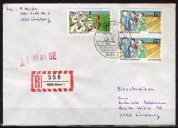 ALLEMAGNE  Lettre Recommandé  Cachet   BONN 1 Le 15 04 1982    Tir A L Arc Course - Tiro Con L'Arco