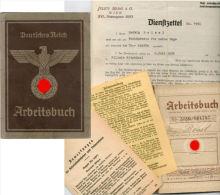 LIVRET INDIVIDUEL Du TRAVAIL ARBEITSBUCH  ALLEMAND 1939  WW2 - Documenti