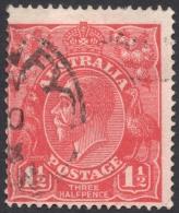 Australia, 1 1/2 P. 1924, Sc # 26, Mi # 59X, Used - 1913-36 George V: Heads