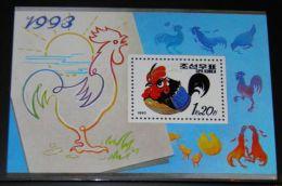 Korea - 1992 Year Of Rooster Block MNH__(THB-4482) - Korea (Noord)