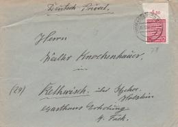 D 001) All.Bes. Sachsen MiNr. 71 X Auf Brief Magdeburg 26.12.45 (2. Weihnachtstag!) Nach Rethwisch über Itzehoe - Sowjetische Zone (SBZ)