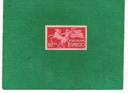 ITALIA REPUBBLICA -  UNIF. E 31 ESPRESSI - 1946  60 LIRE RUOTA PER ESPRESSO (CON PICCOLI DIFETTI)   - NUOVO - 6. 1946-.. Republik